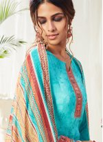 Aqua Blue Bollywood Salwar Kameez