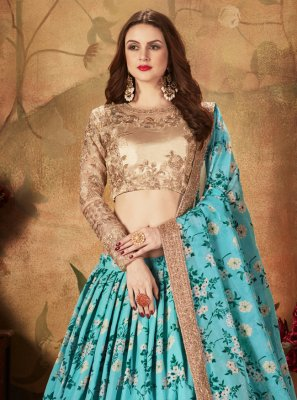 Aqua Blue Color A Line Lehenga Choli