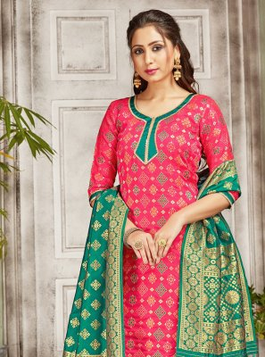 Art Banarasi Silk Designer Salwar Kameez in Pink