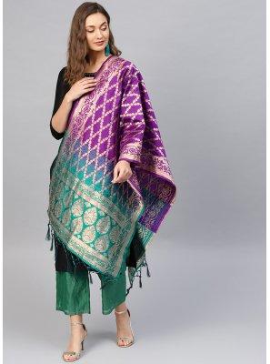 Art Banarasi Silk Multi Colour Weaving Designer Dupatta