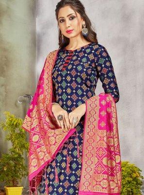 Art Banarasi Silk Salwar Suit