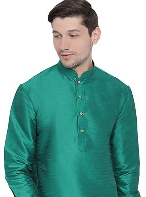 Art Dupion Silk Green Kurta