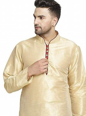 Art Dupion Silk Kurta in Cream