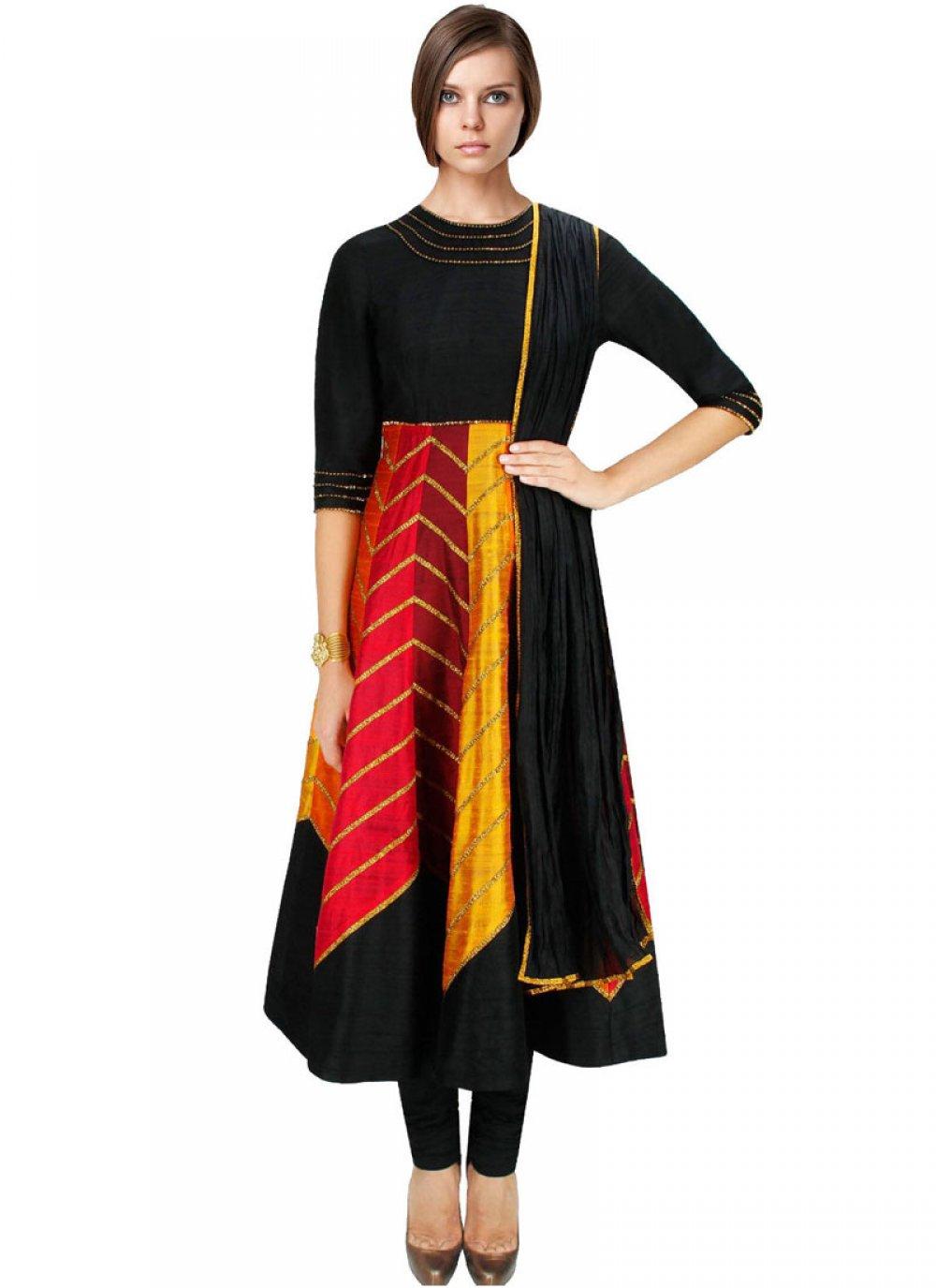 Art Dupion Silk Salwar Suit