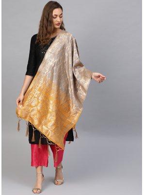 Art Dupion Silk Weaving Designer Dupatta in Multi Colour