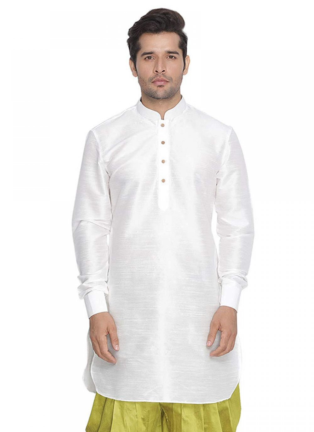 Art Dupion Silk White Kurta
