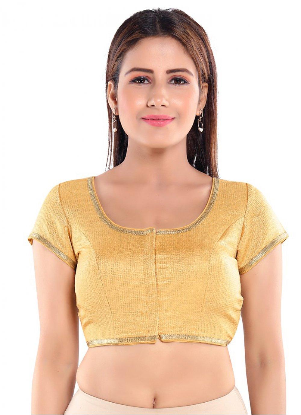 Art Silk Blouse in Gold