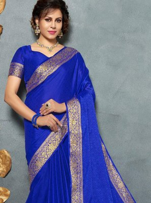 Art Silk Blue Silk Saree