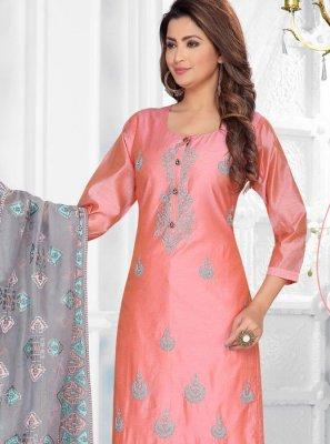 Art Silk Ceremonial Salwar Suit