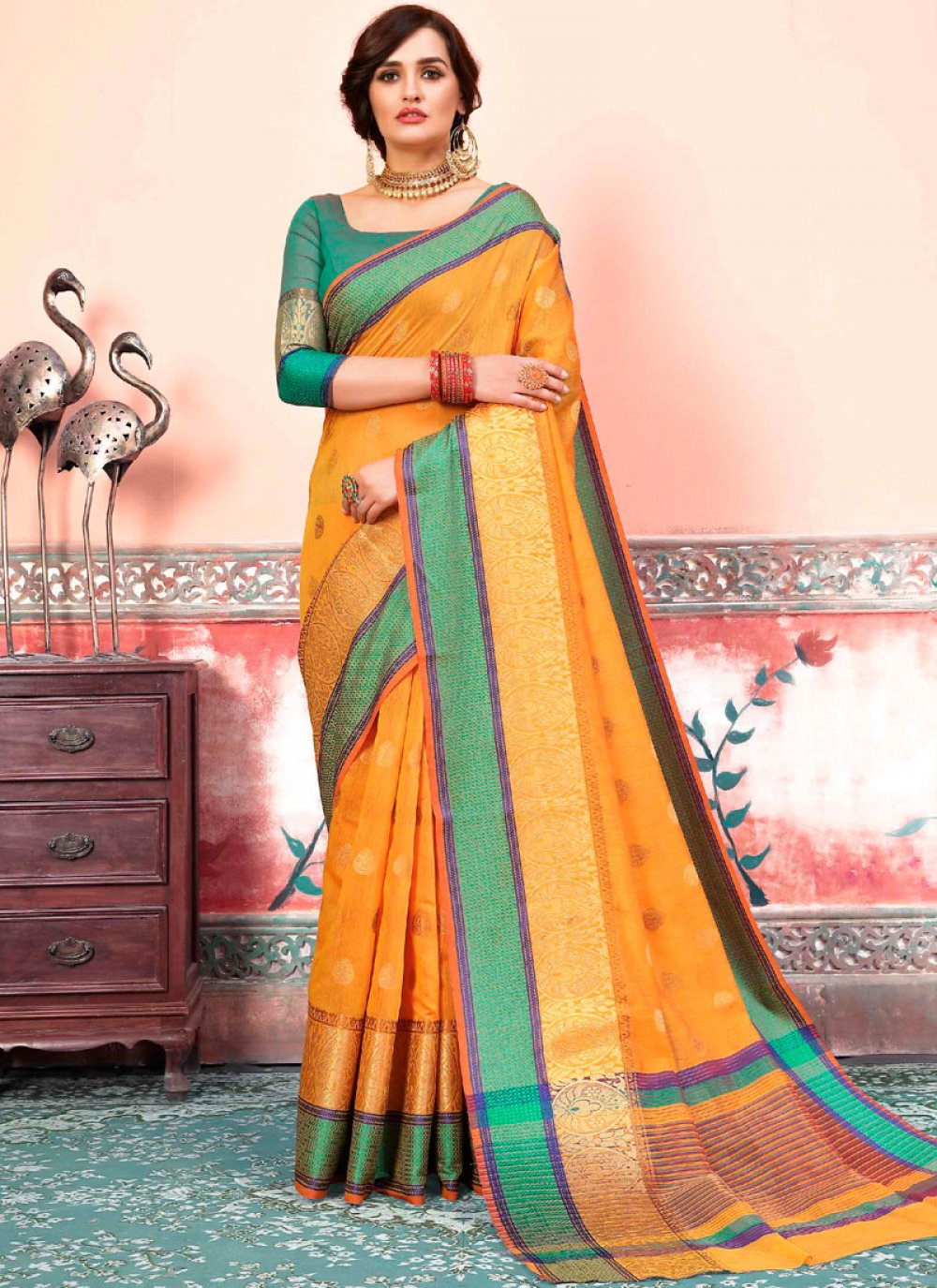Art Silk Cotton Designer Traditional Saree