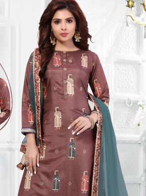 Art Silk Cotton Sangeet Salwar Suit