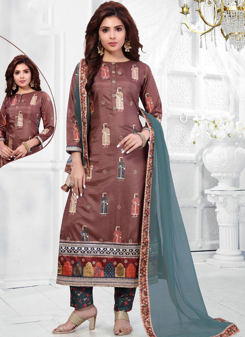 Art Silk Cotton Sangeet Salwar Suit