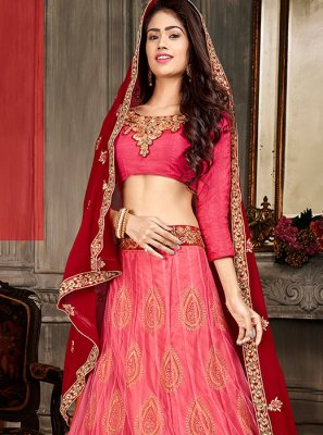 Art Silk Designer Lehenga Choli in Hot Pink