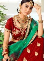 Art Silk Designer Lehenga Choli in Maroon