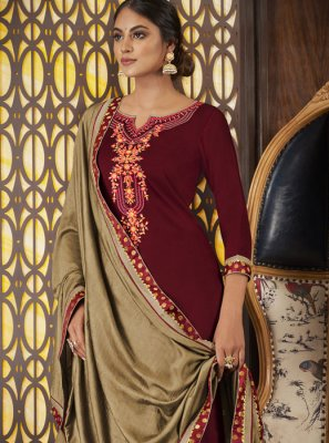 Art Silk Designer Long Lehenga Choli in Brown