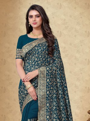 Art Silk Designer Saree in Blue