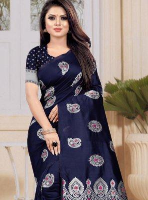 Art Silk Designer Traditional Saree in Blue