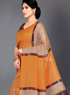 Art Silk Designer Traditional Saree in Mustard