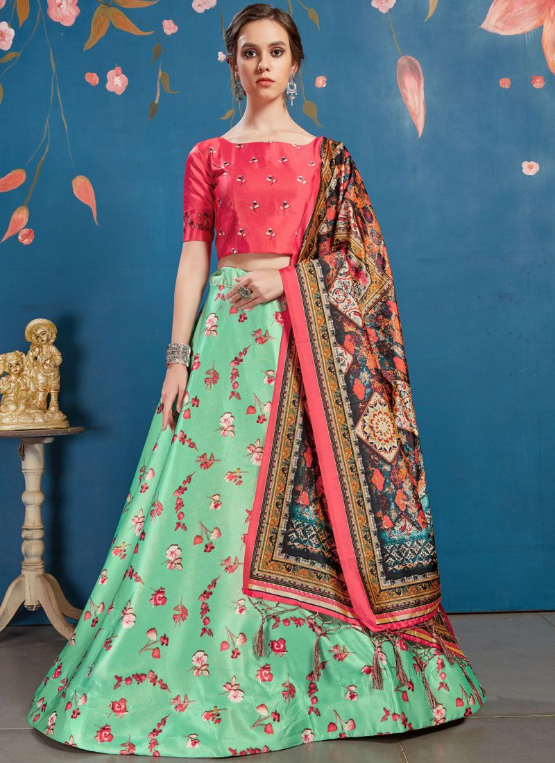 Art Silk Digital Print Lehenga Choli