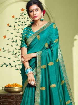 Art Silk Embroidered Classic Saree