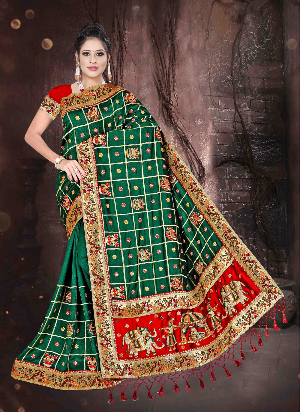 Art Silk Embroidered Designer Saree