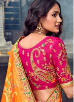 Art Silk Embroidered Red Designer Lehenga Choli