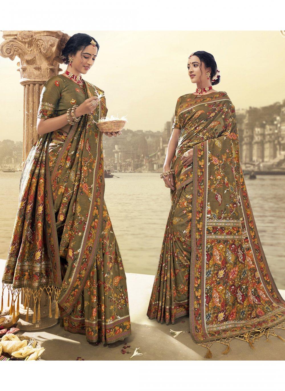 Art Silk Engagement Saree