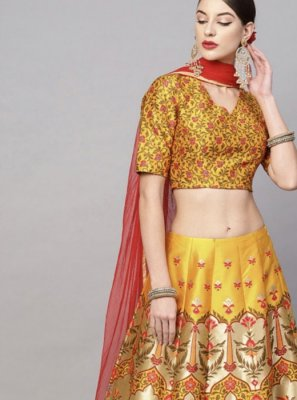 Art Silk Festival Readymade Lehenga Choli