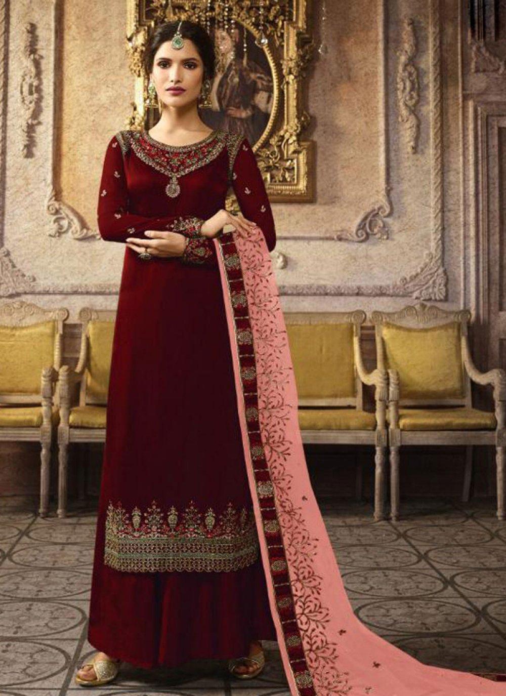 Art Silk Mehndi Salwar Suit