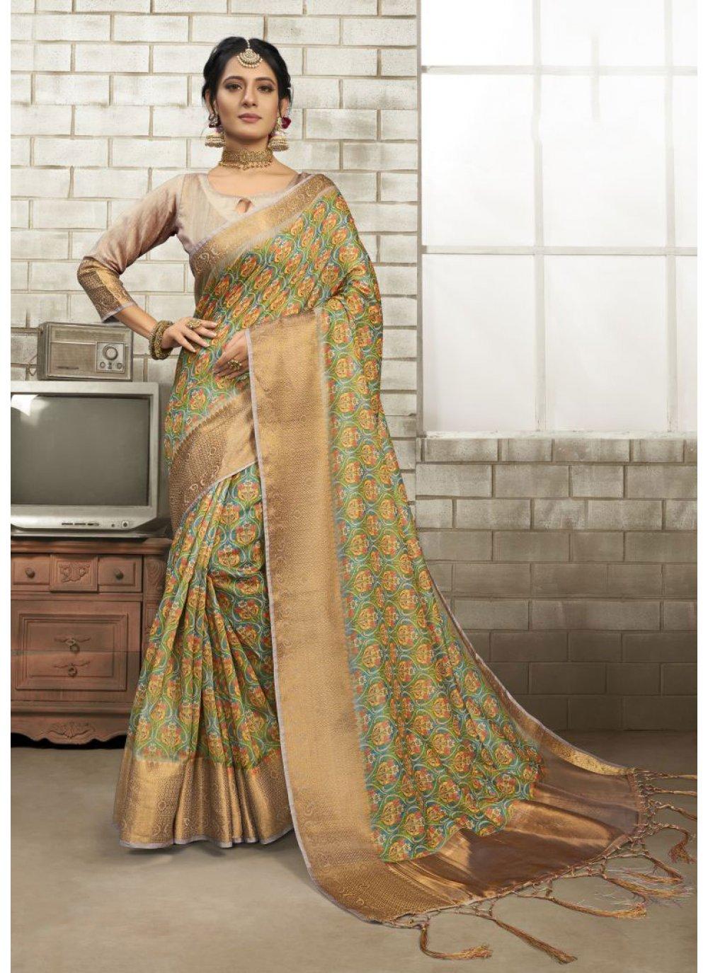 Art Silk Multi Colour Classic Saree