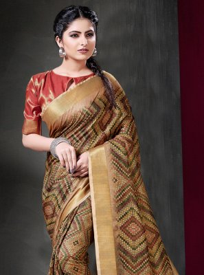 Art Silk Multi Colour Contemporary Style Saree