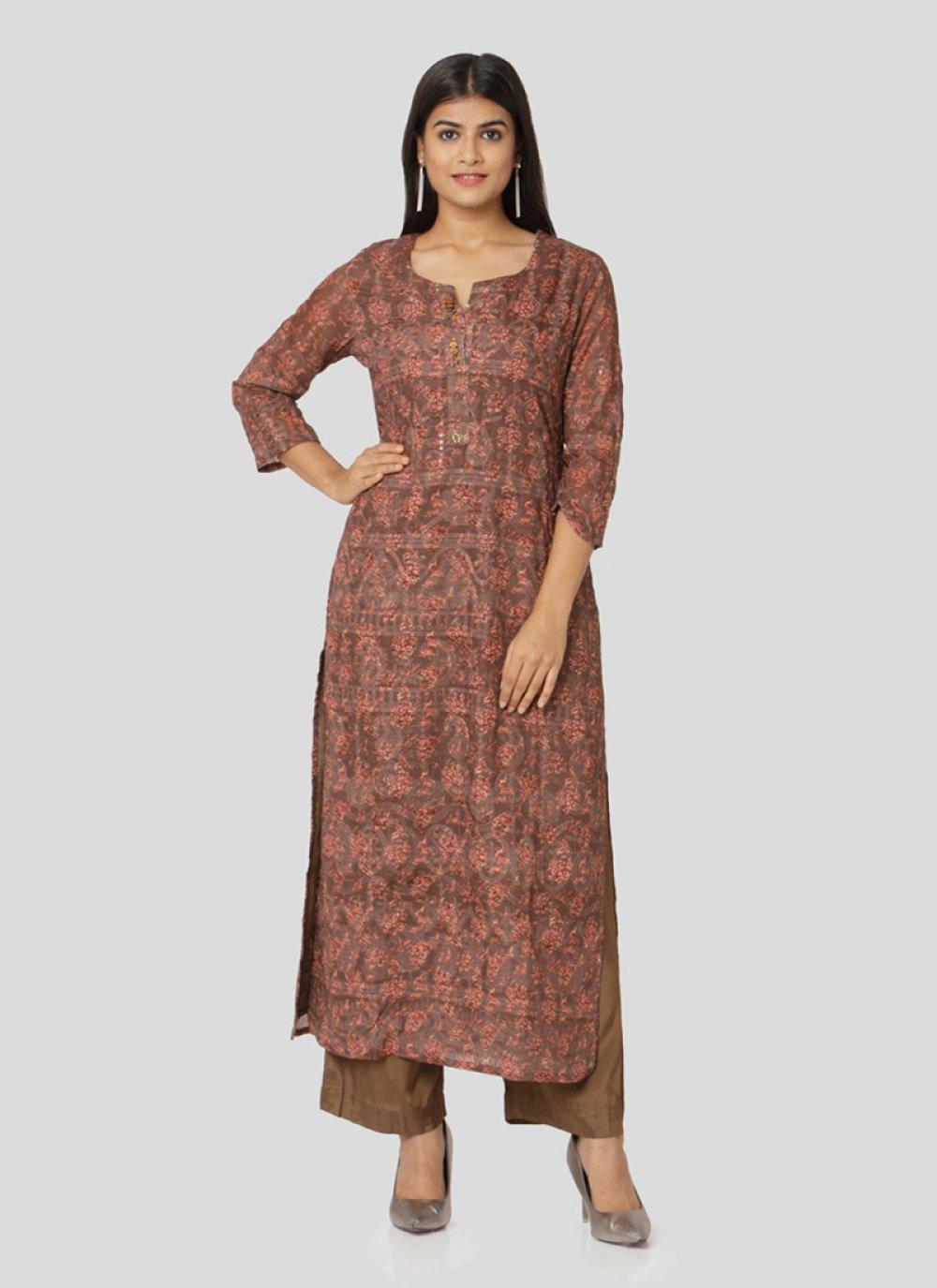 Art Silk Multi Colour Multi Salwar Suit