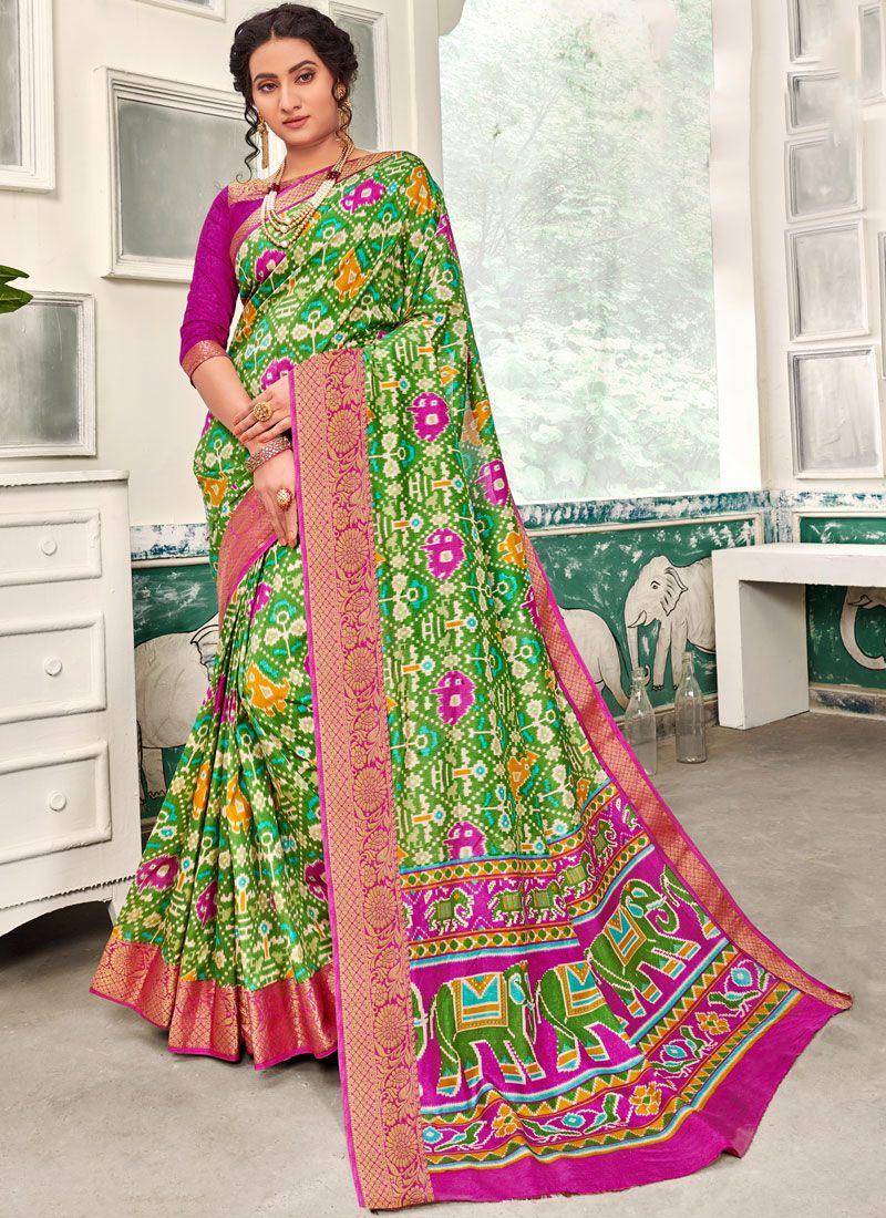 Art Silk Multi Colour Printed Classic Designer Saree