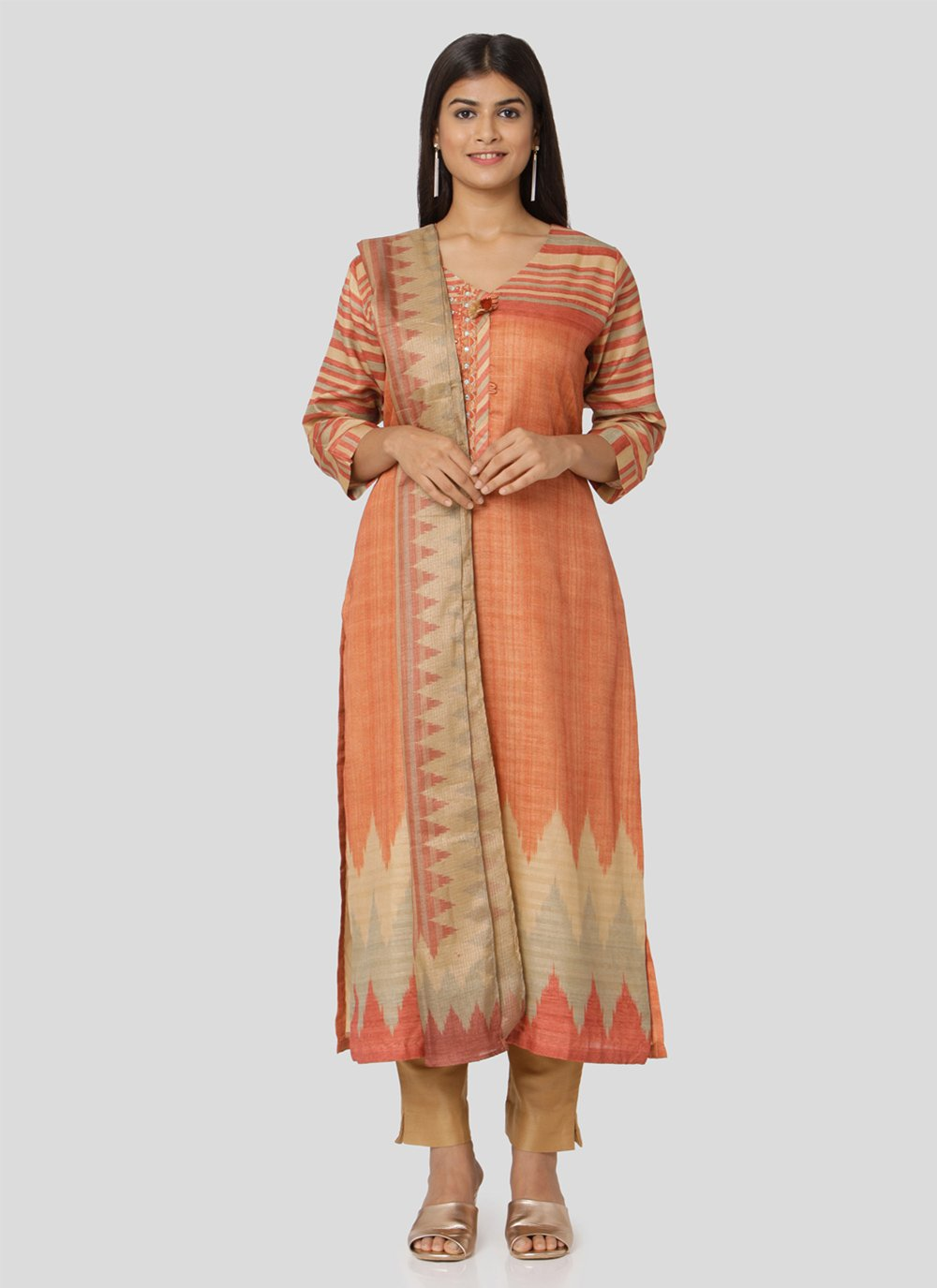 Art Silk Multi Colour Salwar Suit