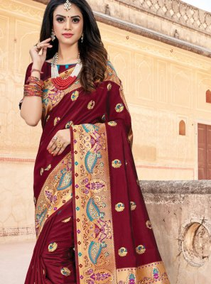 Art Silk Party Classic Saree