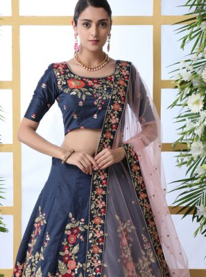 Art Silk Party Designer Lehenga Saree