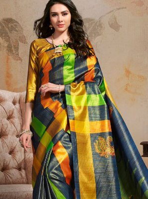 Art Silk Party Printed Saree