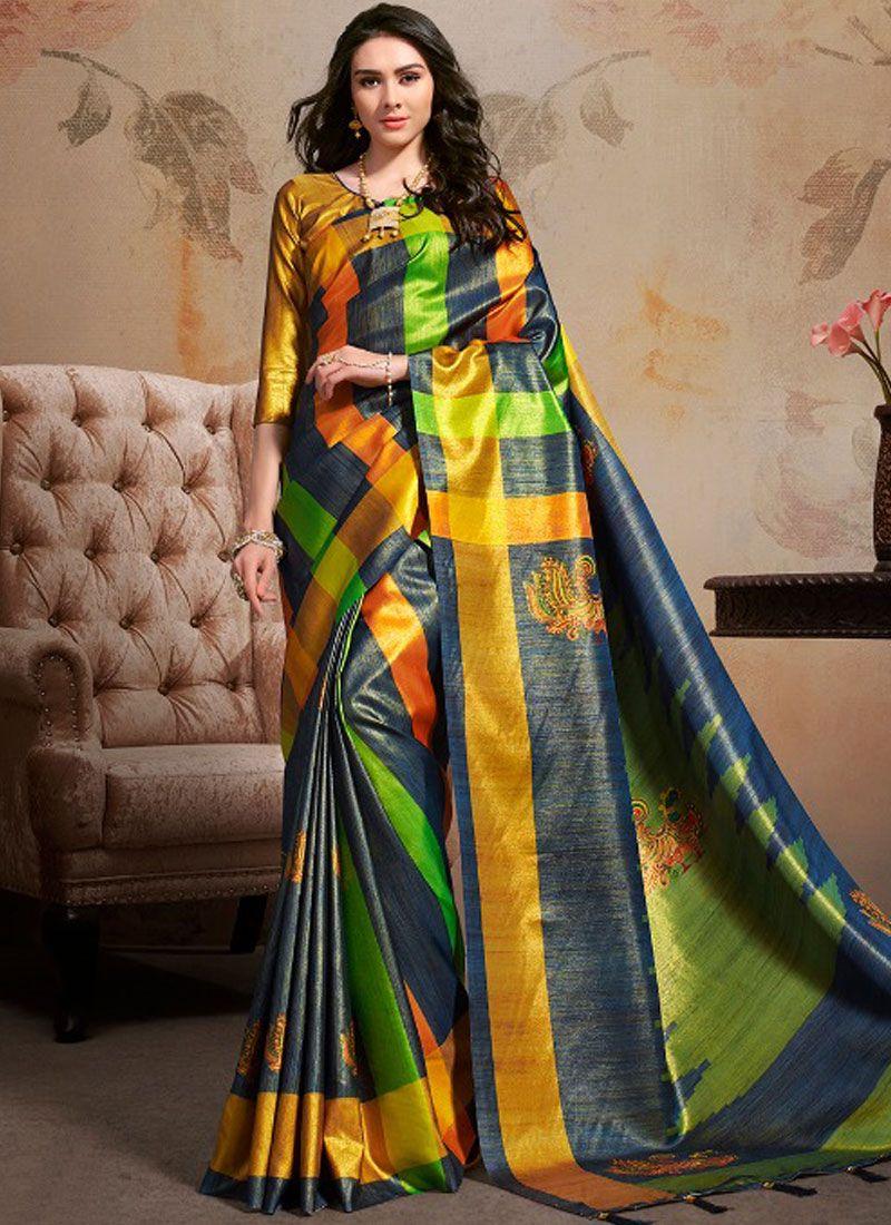 Art Silk Party Printed Saree