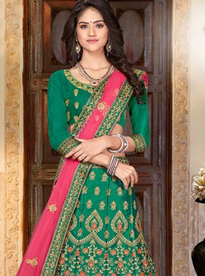 Art Silk Party Trendy A Line Lehenga Choli