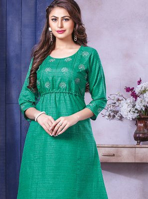 Art Silk Party Wear Kurti