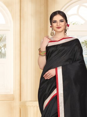 Art Silk Patch Border Casual Saree