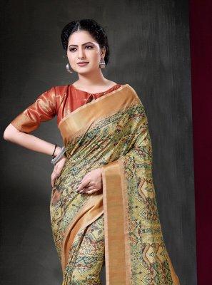 Art Silk Printed Traditional Designer Saree