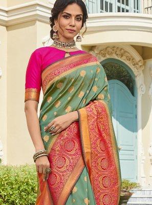 Art Silk Reception Classic Saree