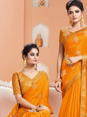 Art Silk Reception Contemporary Saree