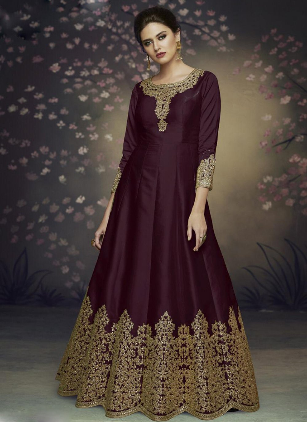 Art Silk Reception Salwar Suit