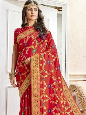 Art Silk Saree in Red