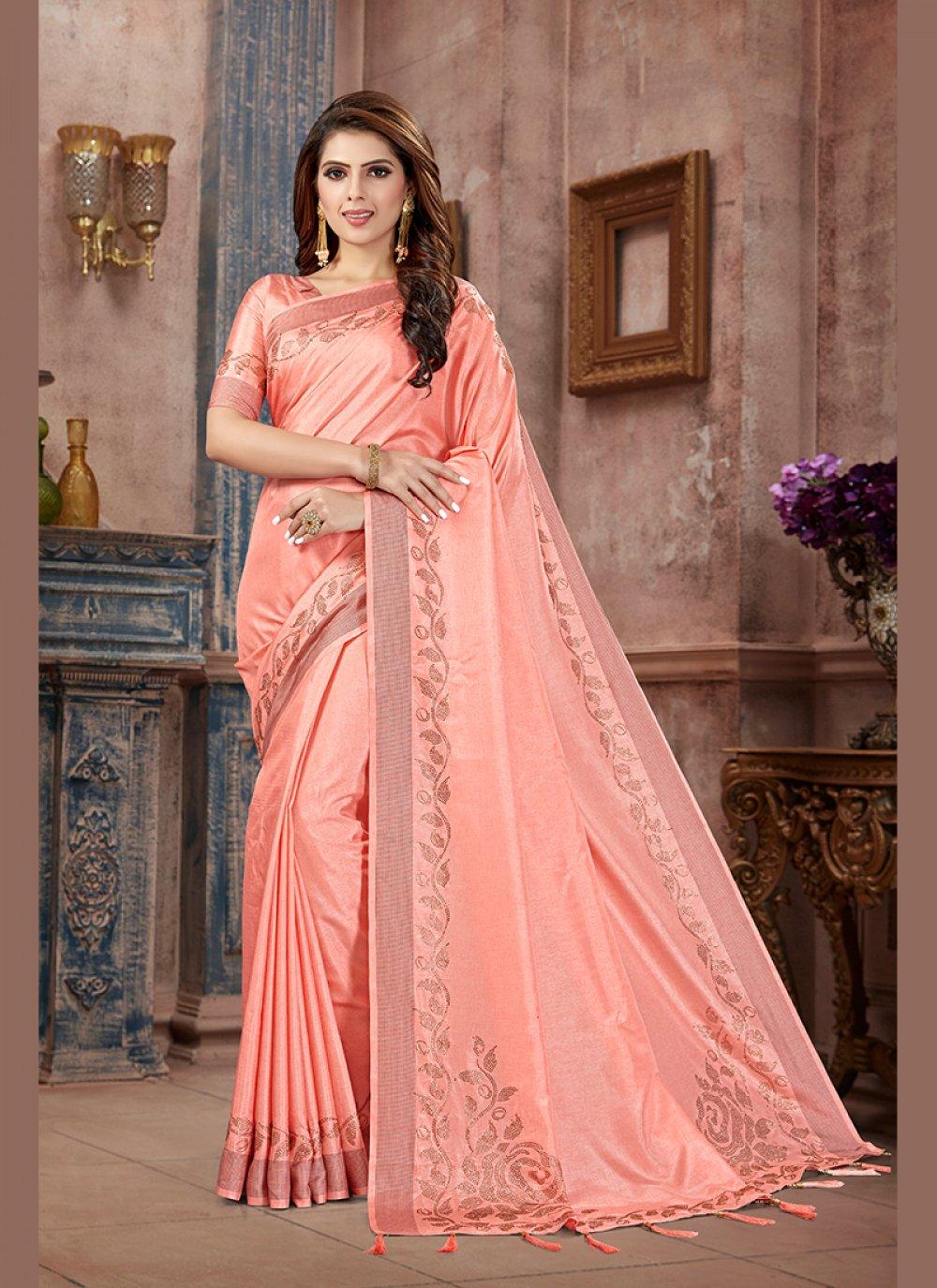 Art Silk Silk Saree in Pink