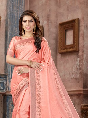 Art Silk Silk Saree in Pink