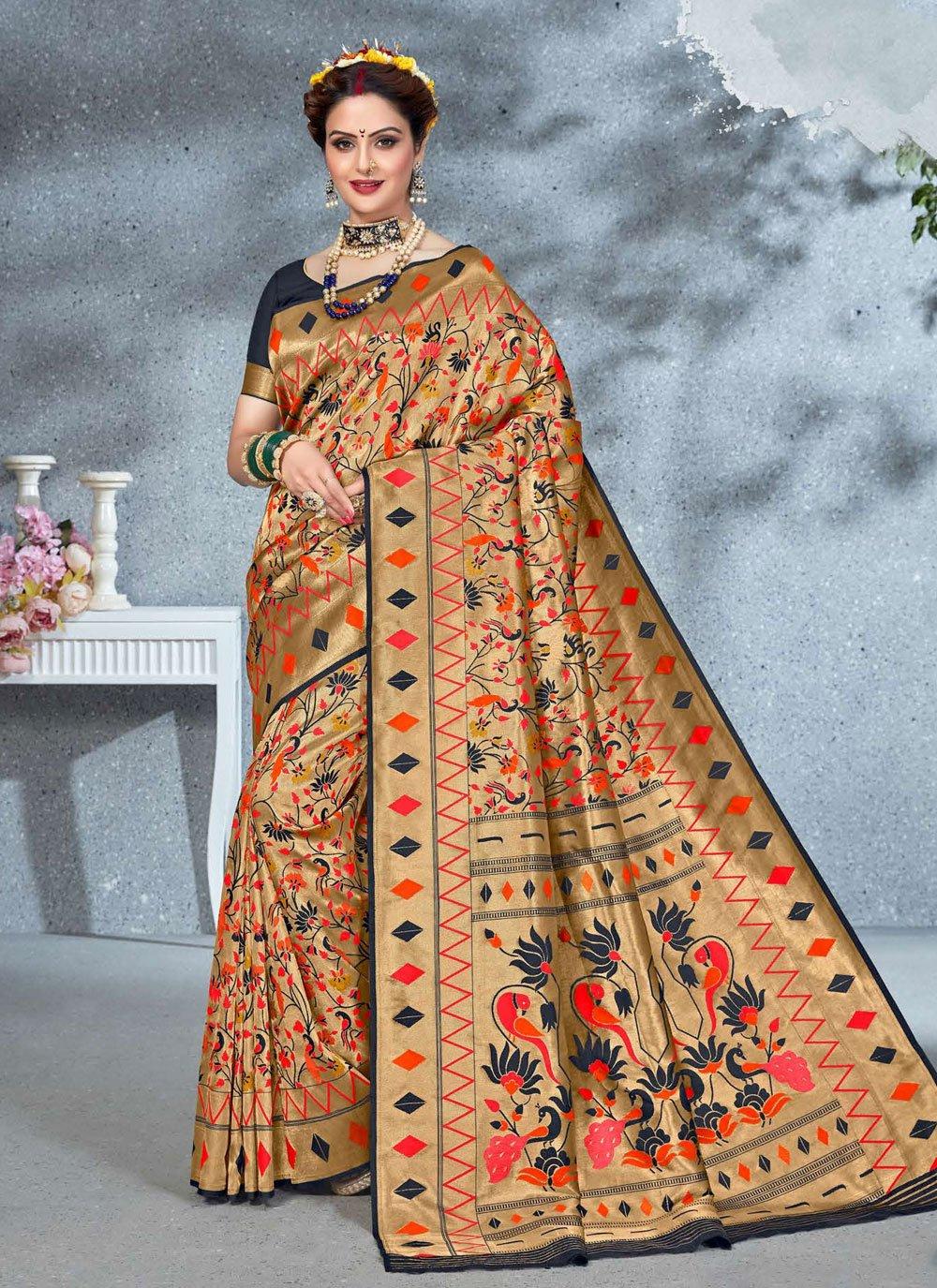 Art Silk Weaving Multi Colour Saree
