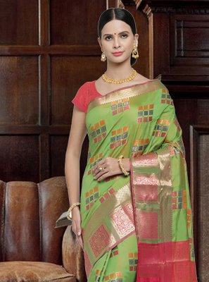 Art Silk Woven Traditional Saree